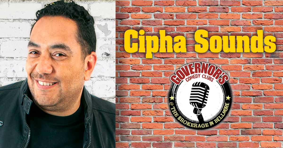 Cipha Sounds at The Brokerage Comedy Club.