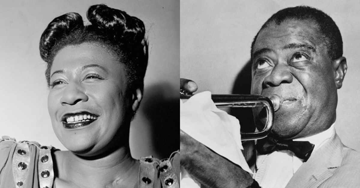 Louis Armstrong and Ella Fitzgerald at the Landmark on Main St