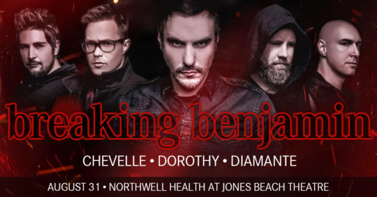 Breaking Benjamin at Jones Beach Theater Wantagh Nassau-Events